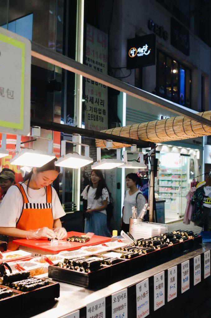gimbap street food