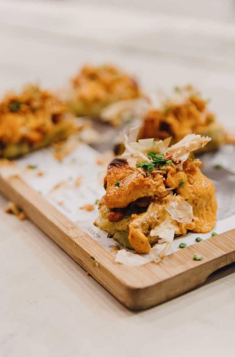 okonomiyaki de pulpo al guajillo